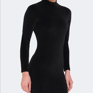 T By Alexander Wang Velvet Dress with exposed back